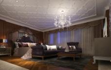 某欧式风格别墅主卧室内设计效果图图片